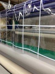 שמשונית PVC שקוף משבצות - צלוליד